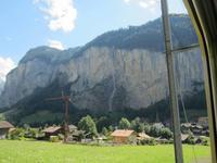 Fahrt vom Jungfraujoch nach Lauterbrunnen, Staubbachwasserfall