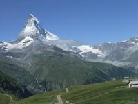 Blick aus der Gornergratbahn zum Matterhorn