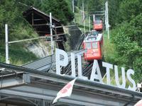 Mit der Pilatusbahn ging es steil hinauf
