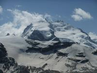 Blick zum Monte-Rosa-Massiv mit der Dufourspitze