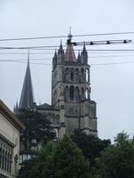 Blick zur Kathedrale in Lausanne