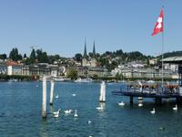 Blick zur Hofkirche in Luzern