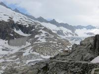 040 Fahrt über den Furkapass - am Rhônegletscher