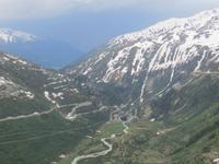 042 Fahrt über den Furkapass - Blick nach Gletsch