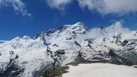 176 Ausflug nach Zermatt - Fahrt mit der Gornergratbahn - Monte Rosa Gruppe