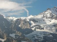 Blick von Kleine Scheidegg zum Jungfraujoch