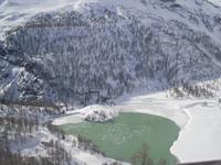 Fahrt mit dem Bernina-Express (Palüsee)
