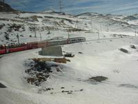 Fahrtimpressionen vom Bernina-Express