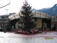 Auf dem kleinen Marktplatz von Vaduz