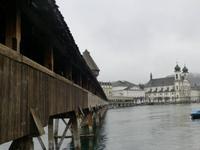 Luzern Kapellbrücke und Jesuitenkirche