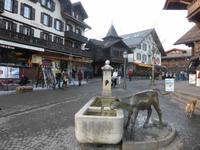 Gstaad - Denkmal an Simmentaler Fleckvieh