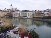 Thun - Blick über die Aare zur Altstadt