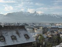 Thun - Blick über die Dächer von Thun mit Stockhorn