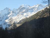 018 Fahrt mit dem Bernina-Express - Blick zum Piz Bernina und dem Monteratschgletscher
