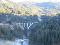 212 Fahrt mit der Arosa-Bahn - Langwieser Viadukt