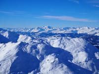 Blick vom Weisshorn Gipfel