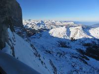 025 Silvester im Berner Oberland - Ausflug zum Jungfraujoch - Blick aus der Eiger-Nordwand