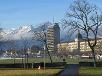 157 Silvester im Berner Oberland - Ortsrundgang in Interlaken - Blick über die Höhematte
