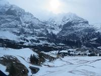 265 Silvester im Berner Oberland - Ausflug nach Grindelwald - auf dem First - Blick zum Eiger