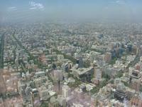 Blick von den Sky Terrassen in Santiago