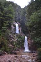 Wasserfall an der Straße von Puerto Chacabuco nach Coyhaique