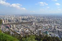 Blick auf Santiago vom Hügel San Cristóbal