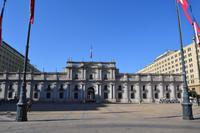 Spaziergang durch die Altstadt von Santiago - Moneda-Palast