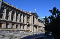 Spaziergang durch die Altstadt von Santiago - Justizpalast