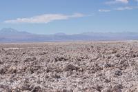 Salzsee in der Atacama-Wüste