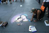 Straßenmaler in Santiago de Chile