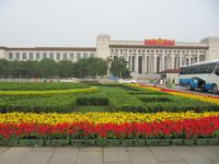 Peking - Tiananmen-Platz Vorbereitungen fÜr den Nationalfeiertag