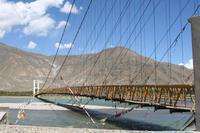Brücke über den Lhasa Fluss