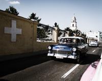 Oldtimer Stadtrundfahrt in Havanna