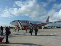 Ankunft mit Air Berlin in La Romana