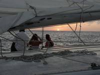Katamaranfahrt in den Sonnenuntergang - Aruba