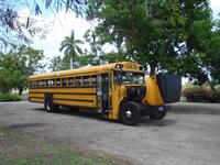 Auch der Schulbus braucht mal Kühlung