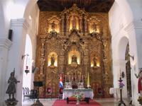 Zedernholzaltar in der Kirche von Sancti Spiritus