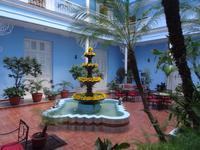 Im Innenhof des Hotels Union in Cienfuegos