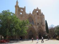 und heutige Lala-Mustafa-Pascha-Moschee in Famagusta