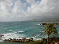 Blick vom Cynthiana Hotel Richtung Korallenbucht