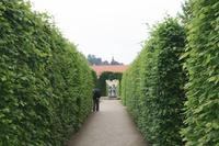 Der Wallenstein-Garten ist streng geometrisch angelegt, wie im Frühbarock üblich