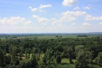 Wir hatten eine herrliche Aussicht über das böhmische Becken