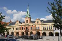 Das markante Rathaus von Melnik