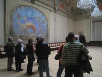 Mucha-Wandbilder auf Schloss Zbiroh