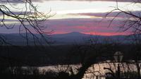 Letzter Sonnenuntergang 2017 über Hluboka