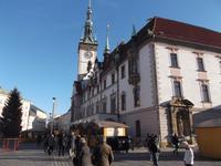 Rathaus auf dem Hauptmarkt, dem Oberring, in Olmütz
