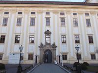 Eingang zum Schloss Kromeriž