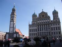 Augsburg. Rathaus und Perlachturm
