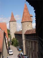 Stadtmauer in Rothenburg o. d. T.