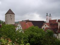 Über den Dächern der Fuchsienstadt Wemding